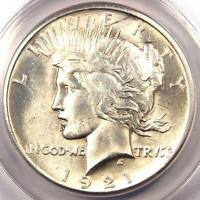 1921 PEACE SILVER DOLLAR $1 - ANACS MINT STATE 60 DETAILS -  KEY DATE BU UNC COIN
