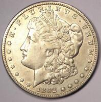 1892-S MORGAN SILVER DOLLAR $1 - EXTRA FINE /AU DETAILS -  DATE THIS SHARP
