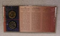 NEW MILLENNIUM   1999 ANTHONY & 2000 SACAGAWEA DOLLAR   COIN COMMEMORATIVE COVER