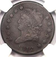 1812 CLASSIC LIBERTY HEAD LARGE CENT 1C - NGC EXTRA FINE  DETAILS EF -  THIS SHARP