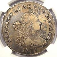1798 DRAPED BUST SILVER DOLLAR $1 BB-108 B-13 - NGC EXTRA FINE  DETAILS EF -  COIN