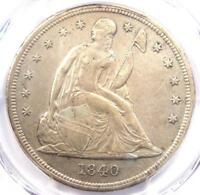 1840 SEATED LIBERTY SILVER DOLLAR $1 - PCGS AU DETAILS -  CERTIFIED COIN