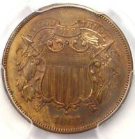 1868 TWO CENT PIECE 2C - PCGS UNCIRCULATED DETAIL MS UNC -  CERTIFIED COIN