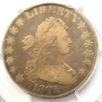 1801 DRAPED BUST HALF DOLLAR 50C - PCGS FINE DETAILS -  DATE COIN