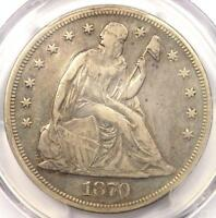 1870-CC SEATED LIBERTY DOLLAR $1 - PCGS VF DETAILS -  CARSON CITY COIN
