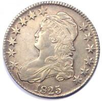 1825 CAPPED BUST HALF DOLLAR 50C - SHARP DETAILS -  COIN -  DATE