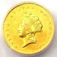 1855-O TYPE 2 INDIAN GOLD DOLLAR G$1 COIN - CERTIFIED ICG AU58 - $4,830 VALUE