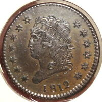 1812 CLASSIC HEAD LARGE CENT, LARGE DATE, S-288,   FINE EXAMPLE