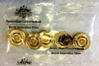 2018  $2  ANZAC LEST WE FORGET  ETERNAL FLAME RAM SACHET / BAG OF 5 COINS