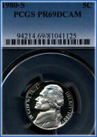 1980 S JEFFERSON NICKEL  PCGS PROOF 69 DEEP CAMEO  BARGAIN PRICED $5.00
