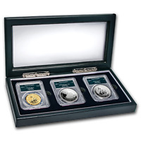 2018 AUSTRALIA SWAN 3 COIN SET MS/PR 70 PCGS  FS SWAN LABEL    SKU166861