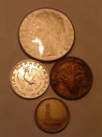 MIXED LOT 4 FOREIGN COINS ASSORTED DATES & COUNTRIES LOT 1070