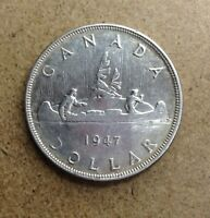 CANADA   $1 DOLLAR   1947 BLUNT   NO TAX