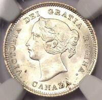 1900 CANADA VICTORIA 5 CENT PIECE  5C COIN    NGC MS64  BU UNC     IN MS64