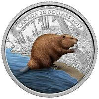 CANADA 2015 $20 FINE SILVER COIN BEAVER AT WORK RCM PROOF TAX FREE