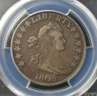 1803 DRAPED BUST HALF DOLLAR - PCGS VF35 -   PATINA