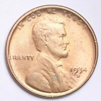 1934-D LINCOLN WHEAT SMALL CENT CHOICE BU RED SHIPS FREE E207 JNM
