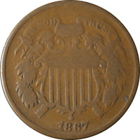 1867 TWO 2 CENT PIECE TERMINAL DIE STATE GREAT DEALS FROM THE TECC BARGAIN BIN
