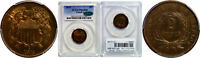 1873 CLOSED 3 TWO CENT PIECE PCGS PR-65 RB CAC