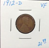 1912-D LINCOLN CENT IN VF CONDITION