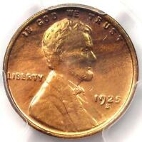 1925-S LINCOLN WHEAT CENT 1C - PCGS UNCIRCULATED -  DATE MS BU UNC COIN