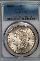 1885-S MORGAN DOLLAR PCGS MINT STATE 65 S/S TOP 100 VAM 6 GEM EXAMPLE 34813713