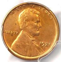 1921-S LINCOLN WHEAT CENT PENNY 1C - PCGS MINT STATE 64 RB  BU RED-BROWN - $650 VALUE