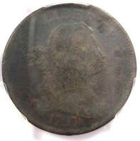 1797 S-122 DRAPED BUST LARGE CENT 1C R5 - PCGS GOOD DETAIL - RARITY-5 VARIETY