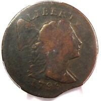 1796 FLOWING HAIR LARGE CENT - PCGS FINE DETAILS F12 -  PENNY -  CLIP