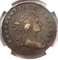1798 DRAPED BUST SILVER DOLLAR $1 - CERTIFIED NGC EXTRA FINE  DETAILS EF -  COIN