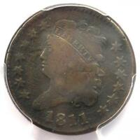 1811 CLASSIC HEAD HALF CENT - PCGS FINE DETAILS -  KEY DATE CERTIFIED COIN