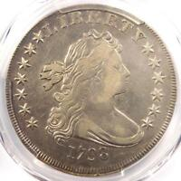 1798 DRAPED BUST SILVER DOLLAR $1 BB-121 - CERTIFIED PCGS VF DETAIL -  COIN