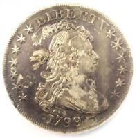 1799 DRAPED BUST SILVER DOLLAR $1 - NGC EXTRA FINE  DETAILS -  COIN - NEAR AU