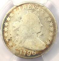 1796 DRAPED BUST DIME 10C - CERTIFIED PCGS GOOD DETAILS -  FIRST YEAR COIN