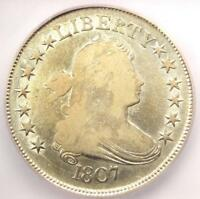 1807 DRAPED BUST HALF DOLLAR 50C COIN - CERTIFIED ICG F12 -  COIN