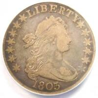 1803 DRAPED BUST HALF DOLLAR 50C O-101 - ANACS F15 -  COIN - $576 VALUE