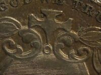 1872 SHIELD NICKEL, TRIPLE DIE OBVERSE, TDO, FS-05-1872-105, OLD SCRATCH ON REV