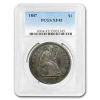 1847 LIBERTY SEATED DOLLAR EXTRA FINE -45 PCGS - SKU169355