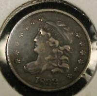 RAW 1832 CAPPED BUST H10C UNCERTIFIED UNGRADED SILVER HALF DIME 90