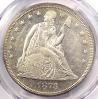 1873 SEATED LIBERTY SILVER DOLLAR $1 - PCGS AU DETAILS -  CERTIFIED COIN