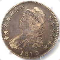 1819/8 CAPPED BUST HALF DOLLAR 50C LARGE 9 O-104 - PCGS EXTRA FINE 40 EF40 - OVERDATE