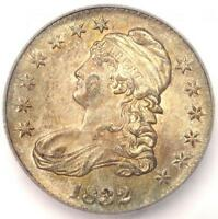 1832 CAPPED BUST HALF DOLLAR 50C - ICG AU58 -  CERTIFIED COIN - $1,250 VALUE