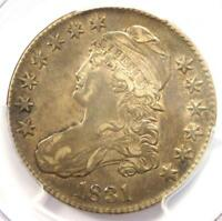 1831 CAPPED BUST HALF DOLLAR 50C O-102 - PCGS EXTRA FINE 40 EF40 -  CERTIFIED COIN
