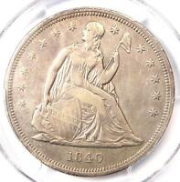 1840 SEATED LIBERTY SILVER DOLLAR $1 - PCGS EXTRA FINE  DETAILS -  CERTIFIED COIN