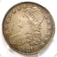 1831 CAPPED BUST HALF DOLLAR 50C O-101 - PCGS EXTRA FINE 45 EF45 -  CERTIFIED COIN