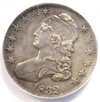 1832 CAPPED BUST HALF DOLLAR 50C - ANACS AU50 DETAILS -  CERTIFIED COIN