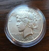1934 SILVER PEACE DOLLAR.  TOP GEM CONDITION  KEY DATE