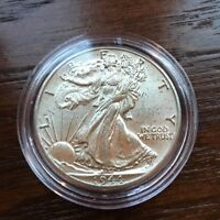 1944 SILVER WALKING LIBERTY HALF DOLLAR IN  BU CONDITION