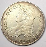 1810 CAPPED BUST HALF DOLLAR 50C - SHARP DETAILS -  COIN -  DATE