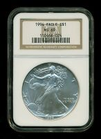1994 AMERICAN SILVER EAGLE NGC MINT STATE 69   1 OZ SILVER COIN